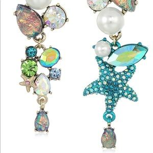 Betsey Johnson Crabby Couture Seashell Earrings